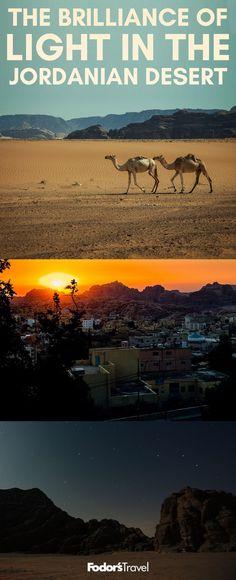 From daybreak to sunset, the Jordanian desert is a million shades of light. #Jordan #travel #MiddleEast #TravelInspiration #bucketlist #naturephotography #photography #beauty #landscapes #nightscapes