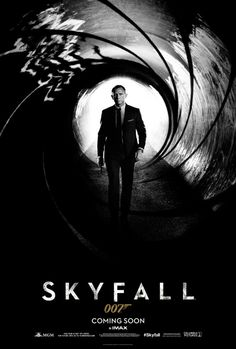 """There's no doubt about it -- 007 is back. Check out this exclusive look at the first poster for """"Skyfall,"""" Daniel Craig's return as Bond, James Bond. The poster shows him walking down the iconic rifled gun barrel in a sharp suit with a pistol in his hand. And the stark black-and-white imagery seems to confirm that this installment coming in November will be a darker, harder-edged Bond than we've seen in the past"""