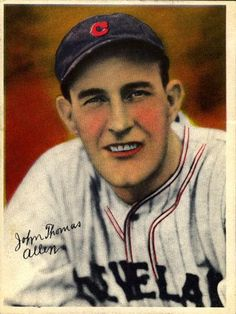 a694ec6569 1936 R312 National Chicle Pastels  NNO Johnny Allen Front. Cleveland Indians Baseball ...