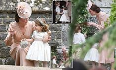 The niece and nephew of the bride, two and three, were met by plenty of coos from the crowd as they made their way into St Mark's Church in the village of Englefield on Saturday.