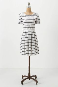 Scalloped Stripes Dress from Anthropologie.