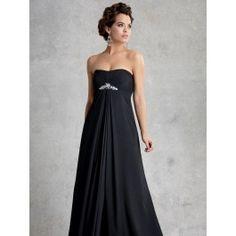 Jordan Fashions 1505 Empire chiffon bridesmaid dress. Wearing in blue.