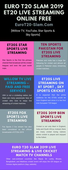 It is the first ever European cricket league where 6 teams from diverse cities would be competing with each other to victory the league. The launch of the league is all set to be broadcasted from 30th August and it will continue till 22nd of September 2019. All details regarding the venue, schedules, t20 final live streaming, t20 live telecast, euro live tv, euro matches live streaming and team are available online.