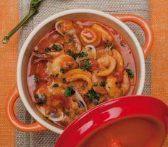Pancotto di Viareggio: Tuscan fish and bread stew.