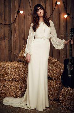 Jenny Packham Spring 2017 | https://www.theknot.com/content/jenny-packham-wedding-dresses-bridal-fashion-week-spring-2017