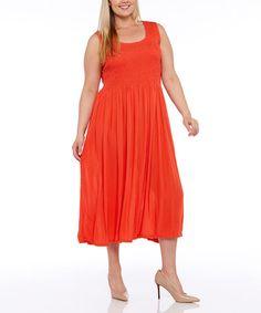 Look at this #zulilyfind! Coral Maxi Dress - Plus #zulilyfinds