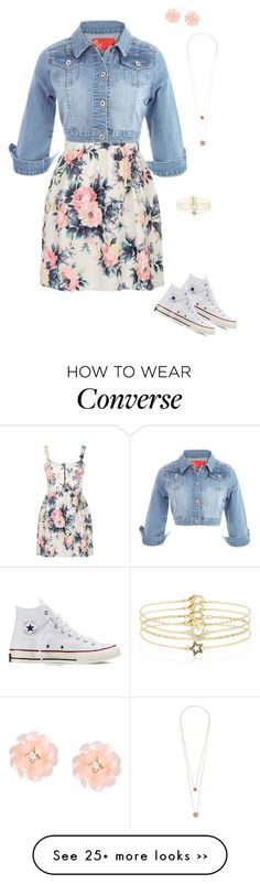 """"""":)50"""" by laurencalhoun on Polyvore featuring Cameo Rose, Converse, Dettagli, Pieces and Accessorize"""