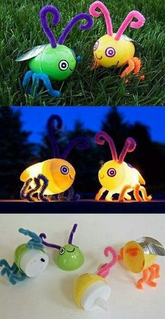 Tea light bugs,  too cute!
