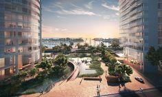With Ward Village, Richard Meier and Bohlin Cywinski Jackson Bring Signature Architecture to Honolulu,Gateway Towers / Richard Meier & Partners. Image © The Howard Hughes Corporation