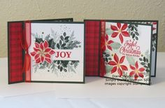 Fun Crafts, Paper Crafts, Christmas Cards, Xmas, Book Binding, Stampin Up Cards, Card Stock, Craft Projects, Greeting Cards