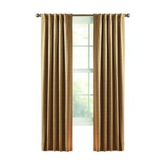 Style Selections Roberta 84-in L Blackout Solid Natural Thermal Back Tab Window Window Curtain Panel