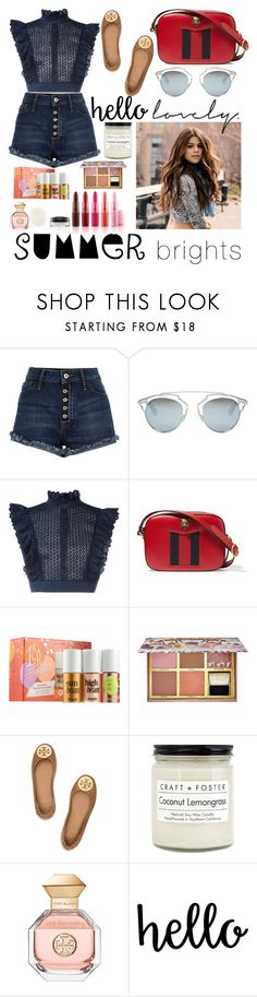 """""""Untitled #171"""" by poorvashikalra ❤ liked on Polyvore featuring River Island, M.A.C, Christian Dior, Philosophy di Lorenzo Serafini, Gucci, Benefit, Tory Burch, Craft + Foster and summerbrights"""
