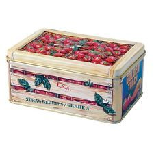 The Silver Crane Company Tins SC110345 Small Fruit Crate Strawberry
