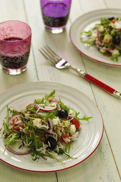 Cinco Quartos de Laranja: Salada de arroz selvagem com queijo feta