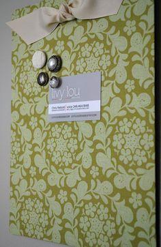 Fabric Magnet Board!