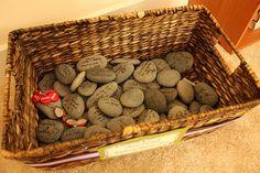 Basket of wishing stones