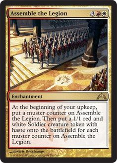 Magic the Gathering MTG Rare Assemble the Legion Gatecrash Magic Playing Cards, Magic Cards, Dual Lands, Nerd Art, Thing 1, Magic The Gathering Cards, D D Characters, Wizards Of The Coast, Summoning