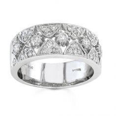 BF1336 - #23558  18 k, white diamond band 0.67 ct. rounds (Please call for pricing)