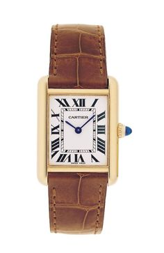 JACKIE KENNEDY'S CARTIER TANK WATCH~,$4,900, Cartier.com Courtesy of Cartier  - TownandCountryMag.com