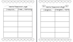 Keen On Kindergarten: Candy Heart Fun Weight recording sheet Valentine Candy Hearts, Valentine Theme, Science Valentines, Math School, Math Work, Converse With Heart, Kindergarten Science, Free Candy, Recording Sheets