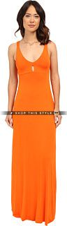 Add some class to your everyday look in this Zyana Dress. ; Maxi silhouette. ; Tangerine print allover a viscose-blend fabrication. ; Plunging V-neckline. ; Fixed shoulder straps. ; Mini cutout at bodice. ; Unlined. ; Straight hemline. ; Slip-on. ; 95% viscose, 5% spandex. ; Hand wash cold, dry flat. ; Made in the U.S.A. and Imported. Measurements: ; Length: 61 in ; Product measurements were taken using size SM. Please note that measurements may vary by size. #Clayton #Dresses #Tangerine