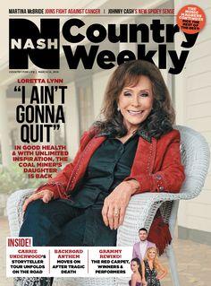 "March 14, 2016 issue featuring Loretta Lynn –""I Ain't Gonna Quit"""