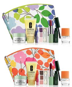 Clinique 2014 Fall Skin Care and Makeup Gift Set (Violet Color) Including New Released Chubby Stick Baby Tint Moisturizing Lip Color Balm, Lash Doubling Mascara, Moisture Surge Intense Skin Fortifying Hydrator and Happy Perfume, Best Foundation Makeup, Makeup Kit Essentials, Makeup Gift Sets, Baby Lips, Lip Colors, Mascara, The Balm, Skin Care