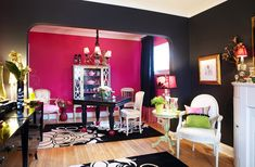 hot pink and black