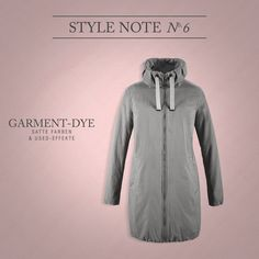 BUGATTI STYLE NOTE | Garment-Dye: The special dyeing process offers new effects that create new #authentic and #casual looks. #bugattifashion #SS16 #womenswear #newin #trends #garmentdye #coat #grey