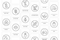 Essential Food value icon set Food Unique Recipes, Real Food Recipes, Water Recipes, Free Recipes, Food Value, Icon Package, Food Icons, Sans Gluten, Nut Free