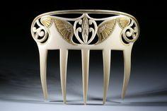 Antique French Art Nouveau Comb