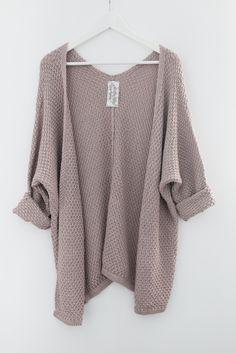 Mauve Indie Knit Cardigan