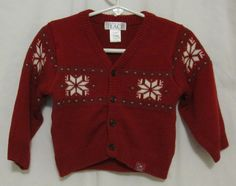 The Childrens Place Boys Red Snowflake Sweater 12 Months Cardigan Nordic Toddler #TheChildrensPlace #Cardigan #DressyEverydayHoliday