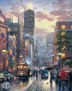 San Francisco, Powell Street by Thomas Kinkade