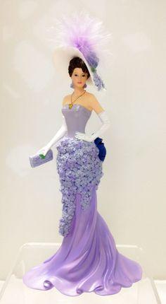 Wondrous Wisteria Lady Figurine - Bradford Exchange Blooming Beauties
