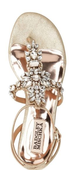 Crystal Sandals by Badgley Mischka