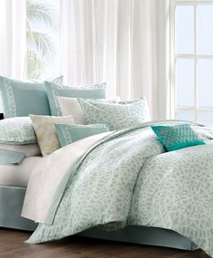 Beach Bedding Collections -Slip Away to the Soothing Shoreline – Beach Bliss Living - Decorating and Lifestyle Blog
