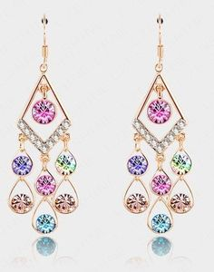 Vintage Crystal Earrings- Charming, elegant jewelry accessory for your earring collection.