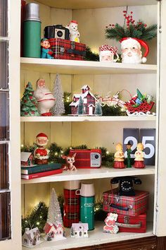 Decorating The China Cabinet For Christmas - House of Hawthornes Christmas China, Retro Christmas, Christmas Items, Christmas And New Year, All Things Christmas, Christmas Home, Holiday Fun, Holiday Decor, Christmas 2019