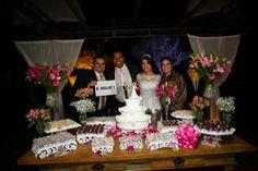 Casamento de Aline e Edgar - mesa de doces