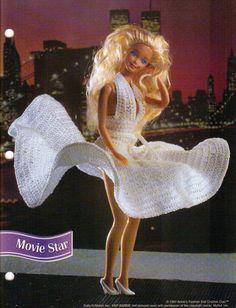MOVIE STAR DRESS CROCHET PATTERN BY ANNIE'S FASHION DOLL CROCHET CLUB RARE #AnniesAttic