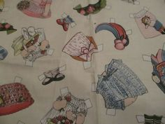 Paper Doll Fabric, Sibling Arts Studios # 571 Paper Doll Clothing OOP 43 x 36 #Siblingartsstudiosnewcastlefabric