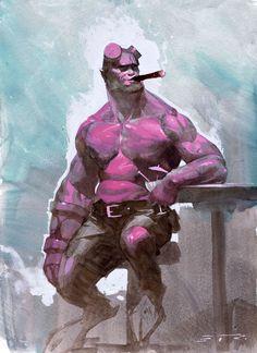 Hellboy by Esad Ribic