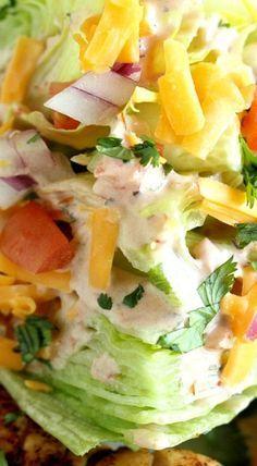 Chicken Fajita Wedge Salad ^