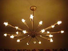 sputnik light - handmade by California vendor via eBay...dining room. I think this is it!?? $900 OBO