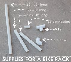Ever wonder how to make a bike rack?  Check out this DIY bike rack for kids!