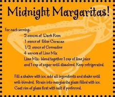 Midnight margaritas from practical magic :)  ♥that movie!