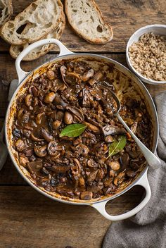This is a vegetarian version of a classic beef bourguignon and captures the essence of the dish so deliciously. Its hearty and robust and will have even the staunchest meat eaters feeling satisfied…