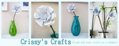 """""""Crissy's Crafts.""""  Awesom blog.  I have only looked for a few minutes, but have found absolutely unbelievable recycled projects.  And the results are just beautiful.  New blogger, and she is doing a great job.  Hope it keeps going!!!"""