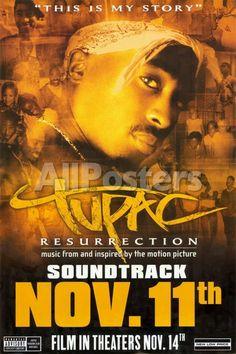 Tupac: Resurrection - Soundtrack Movies Original Poster - 61 x 91 cm